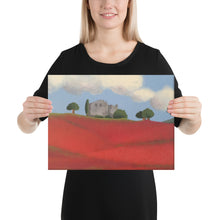 Load image into Gallery viewer, Canvas Print - Farm fields with poppies - FREE SHIPPING