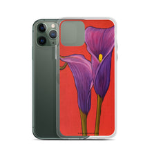 Load image into Gallery viewer, iPhone Case - Purple Calla Lilies