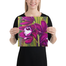 Load image into Gallery viewer, Canvas Print - Dark Magenta Orchid - FREE SHIPPING