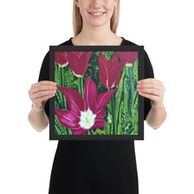 Load image into Gallery viewer, Framed Print - Magenta Tulips - FREE SHIPPING