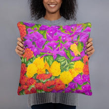 Load image into Gallery viewer, Decorative Pillow - Garden of Flowers - FREE SHIPPING