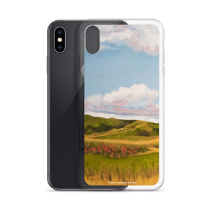 iPhone cell case - Spring Clouds with poppies 1 - FREE SHIPPING