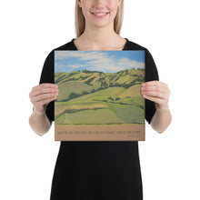 Load image into Gallery viewer, Canvas Print - Nicasio Hills, CA - FREE SHIPPING