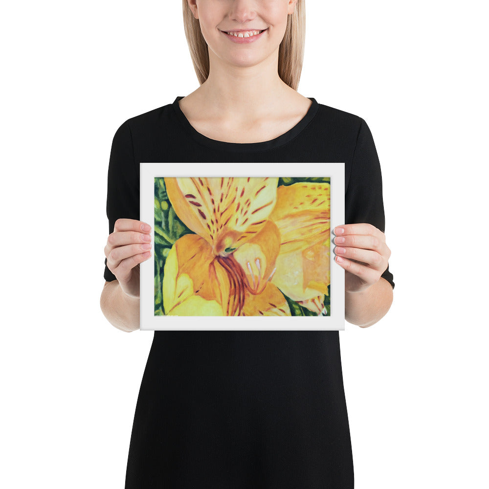 Framed Print - Yellow Alstroemeria - FREE SHIPPING