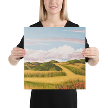 Load image into Gallery viewer, Canvas Print - Spring clouds and CA poppies 2 - FREE SHIPPING