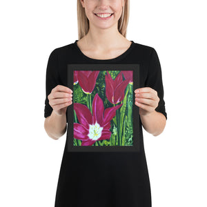 Framed Print - Magenta Tulips - FREE SHIPPING