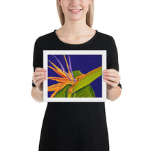 Load image into Gallery viewer, Framed Print - Bird of Paradise on Purple - FREE SHIPPING