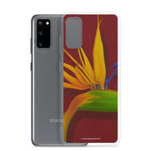Load image into Gallery viewer, Samsung Case - Bird of Paradise on dark red - FREE SHIPPING