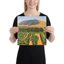 Load image into Gallery viewer, Canvas Print - Lush purple vineyards in golden hills