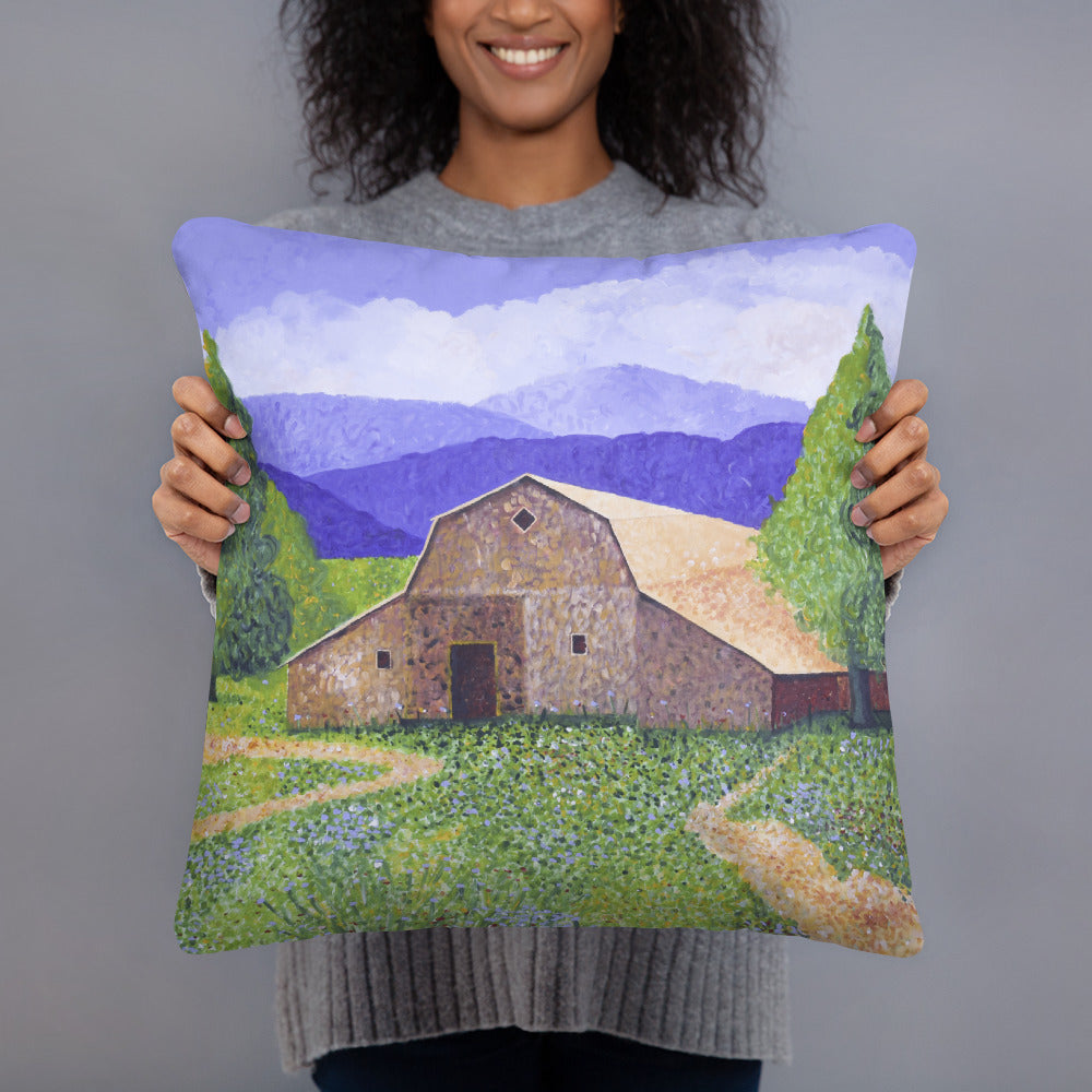 Decorative Pillow - Michigan Barn - FREE SHIPPING