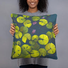 Load image into Gallery viewer, Decorative Pillow - Waterlilies 1 - FREE SHIPPING