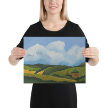 Load image into Gallery viewer, Canvas Print - Napa vineyard with stone hut - FREE SHIPPING