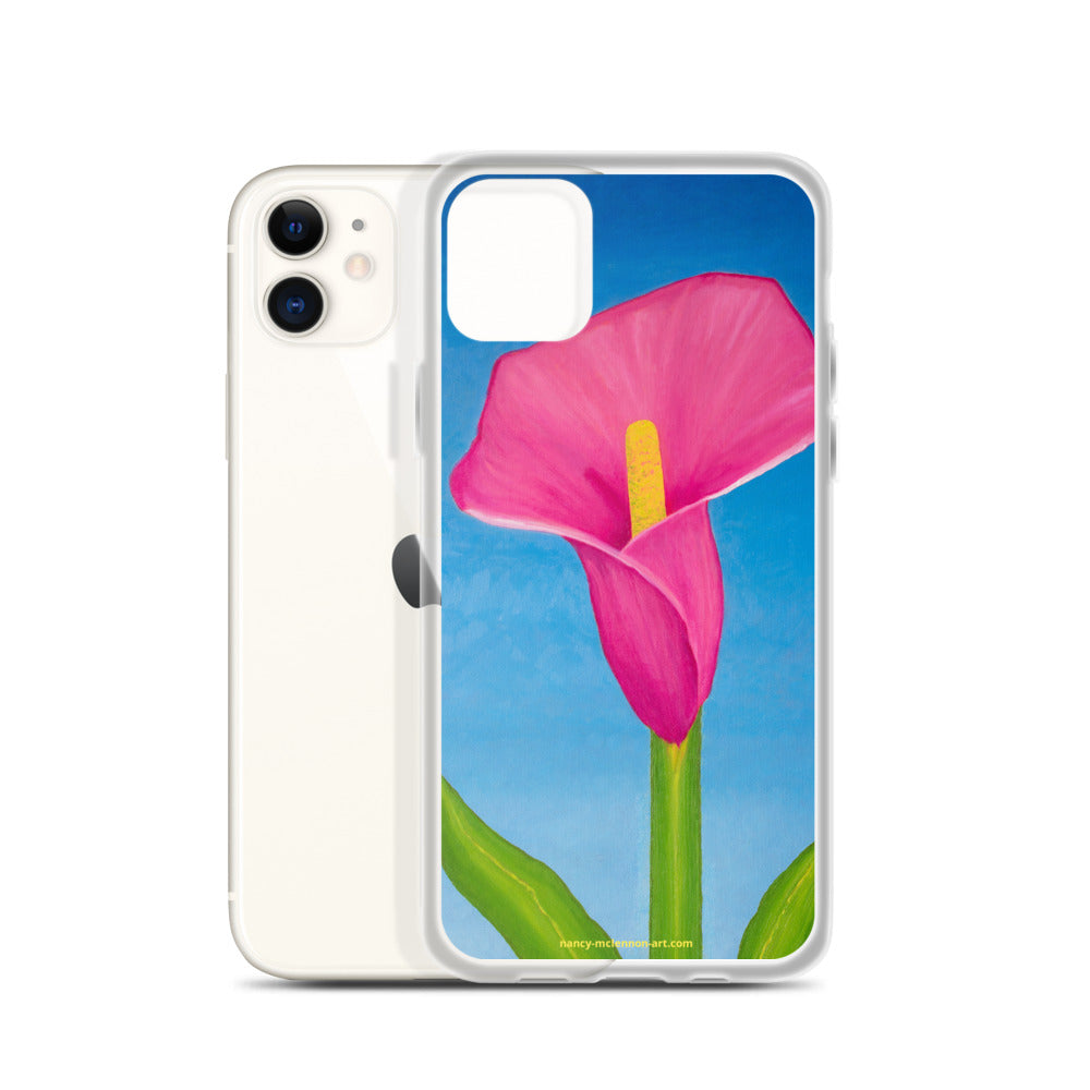iPhone Case - Rosy Pink Lily