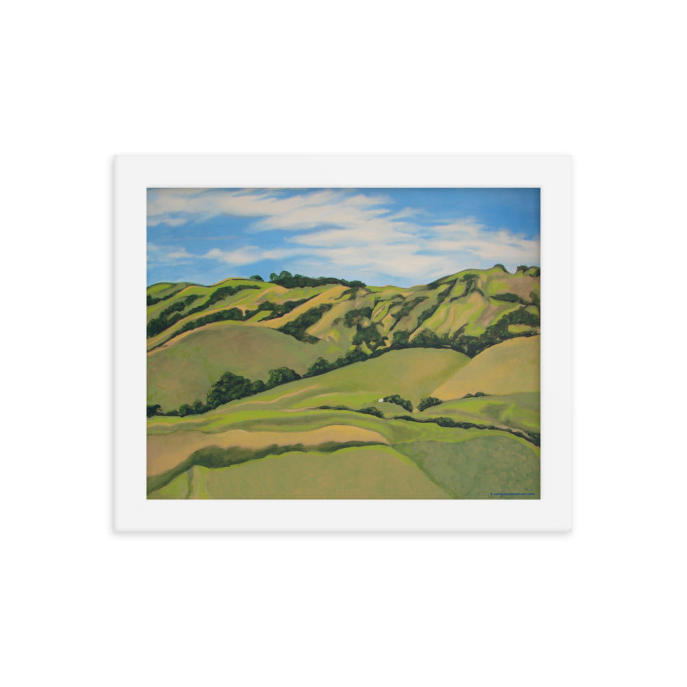 Framed poster - Nicasio Hills, CA - FREE SHIPPING