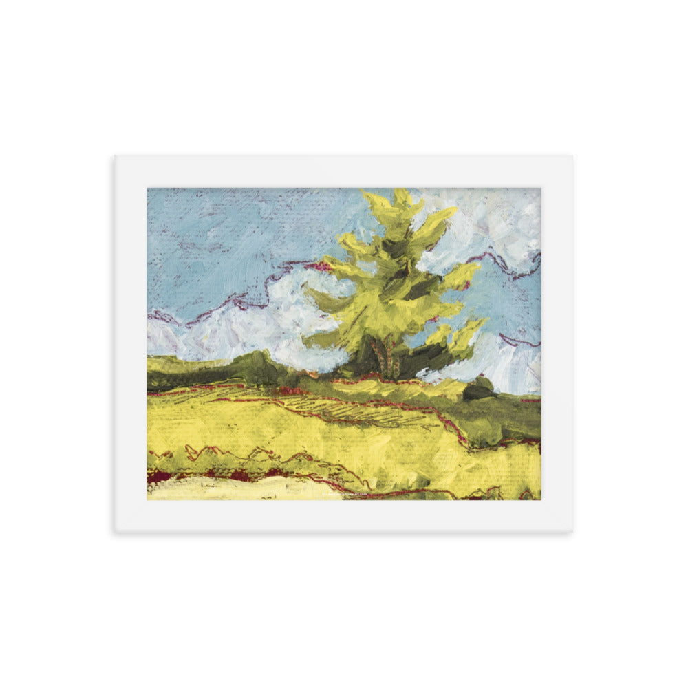 Framed poster - Sonoma pine tree in summer - FREE SHIPPING