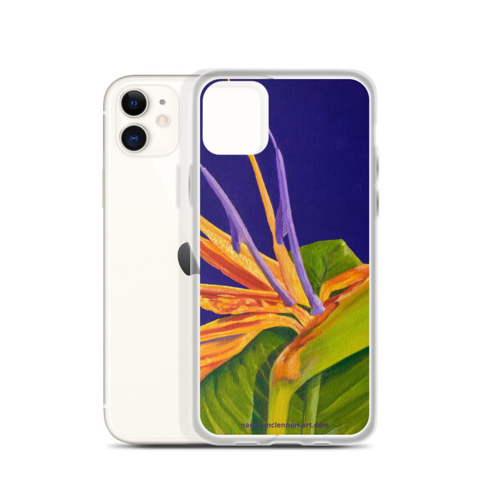 iPhone Case - Bird of paradise on purple - FREE SHIPPING