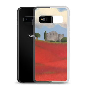 Samsung Case - Farm field with poppies - FREE SHIPPING