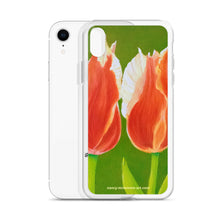 Load image into Gallery viewer, iPhone Case - Two tulips on green - FREE SHIPPING