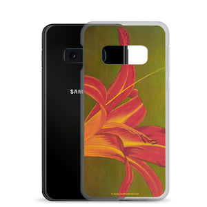 Samsung Case - Ruby Spider Daylily - FREE SHIPPING