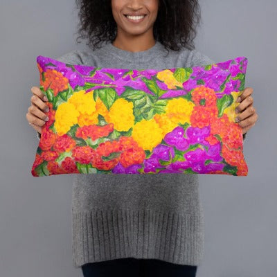 Decorative Pillow - Garden of Flowers - FREE SHIPPING