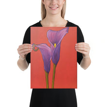 Load image into Gallery viewer, Canvas Print - Purple Calla Lilies - FREE SHIPPING