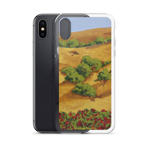 iPhone Case - Sonoma CA hills with red roses - FREE SHIPPING
