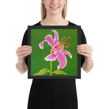 Load image into Gallery viewer, Framed print - Stargazer Lily 2 - FREE SHIPPING