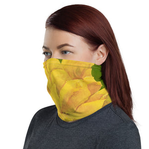 Face Cover - Yellow Rose - FREE SHIPPING