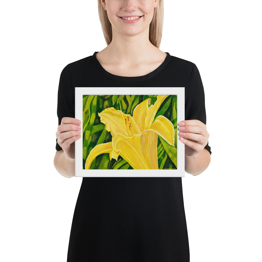Framed Print - Yellow Lily - FREE SHIPPING