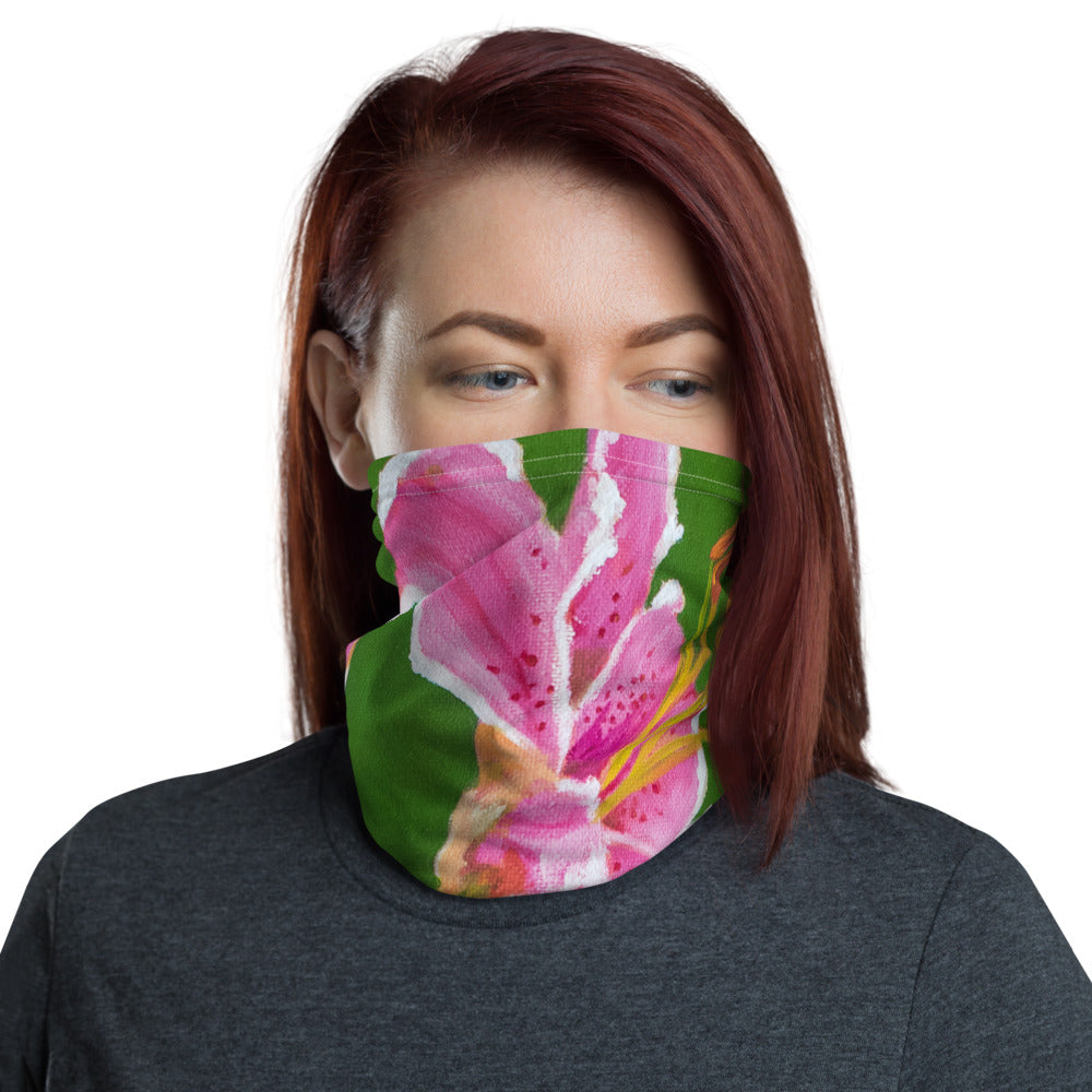 Face Cover - Stargazer Lily 2