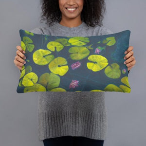 Decorative Pillow - Waterlilies #2 - FREE SHIPPING
