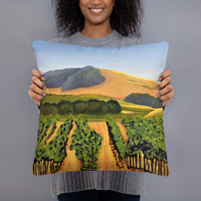 Load image into Gallery viewer, Decorative Pillow - Lush Purple vineyard in golden hills - FREE SHIPPING
