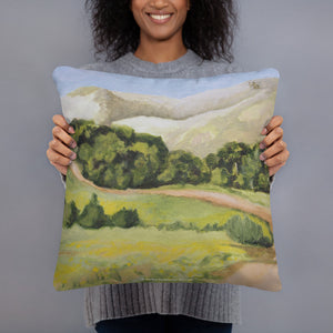 Decorative Pillow - Lucas Valley trail in the fall - FREE SHIPPING