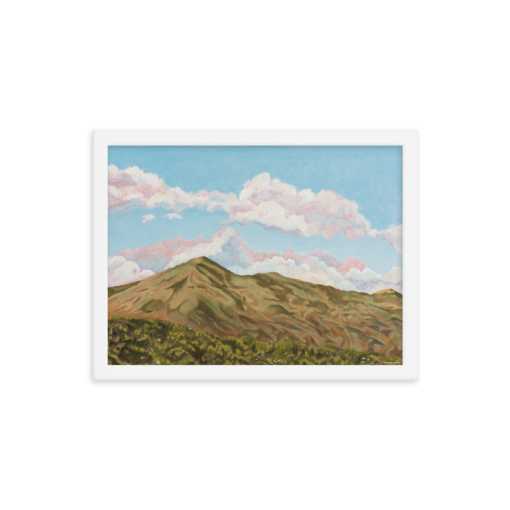 Framed poster - Sun on Mt Tamalpais - FREE SHIPPING