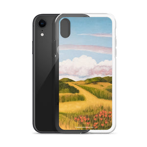 iPhone Case - Springs clouds with CA poppies 2 - FREE SHIPPING