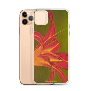 iPhone Case - Ruby Spider Daylily - FREE SHIPPING