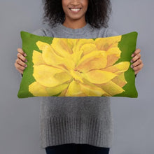 Load image into Gallery viewer, Decorative Pillow - Yellow Rose - FREE SHIPPING
