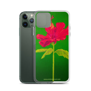 iPhone Case - Tall hibiscus rosa-sinensis - FREE SHIPPING