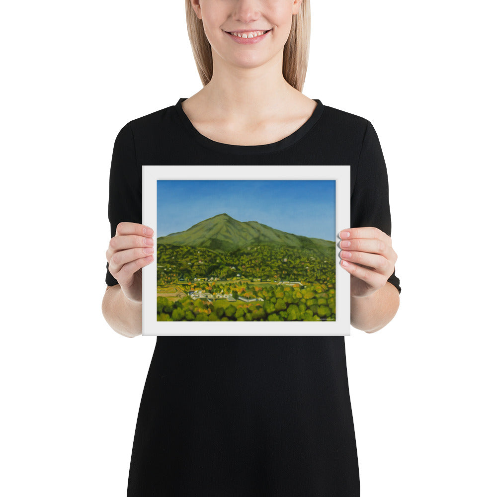 Framed print - Mt Tamalpais from the studio - FREE SHIPPING