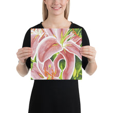 Load image into Gallery viewer, Canvas Print - Stargazer Lily - FREE SHIPPING