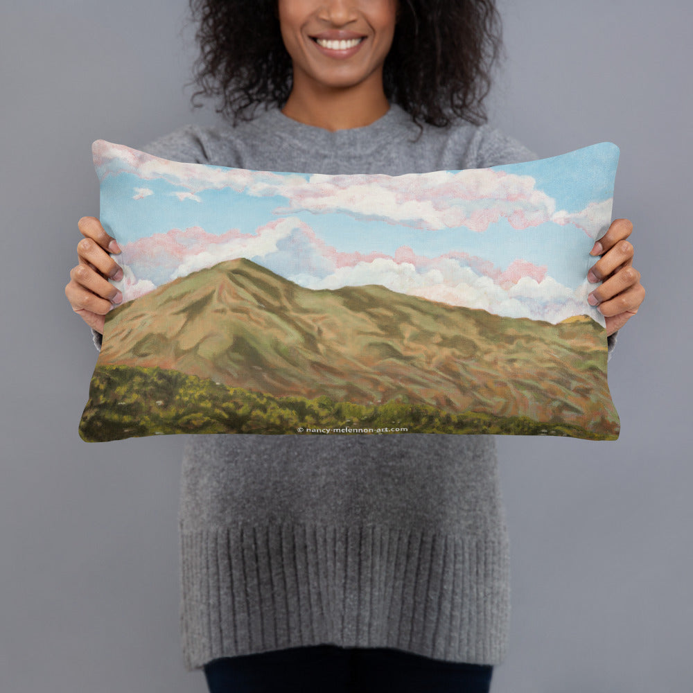 Decorative Pillow - Sun on Mt Tamalpais - FREE SHIPPING