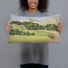 Load image into Gallery viewer, Decorative Pillow - Lucas Valley trail in the fall - FREE SHIPPING