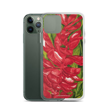 Load image into Gallery viewer, iPhone Case - Red ginger floral - FREE SHIPPING