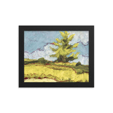 Load image into Gallery viewer, Framed poster - Sonoma pine tree in summer - FREE SHIPPING