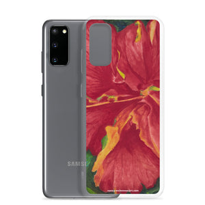 Samsung Case - Deep Red Hibiscus - FREE SHIPPING