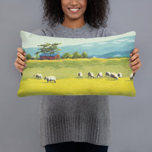 Load image into Gallery viewer, Decorative Pillow - Oregon sheep farm with red barn
