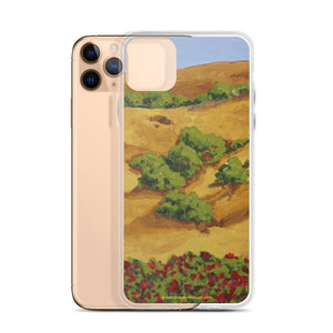 iPhone Case - Sonoma CA hills with red roses