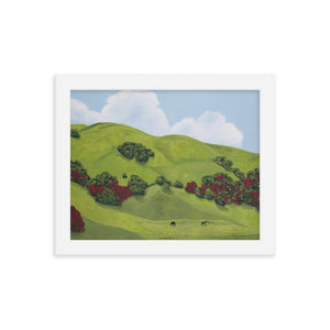 Framed poster - Sonoma Hills in winter - FREE SHIPPING