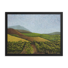 Load image into Gallery viewer, Framed poster - Napa Valley Vines in the fall - FREE SHIPPING