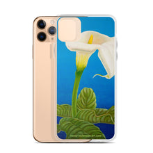 Load image into Gallery viewer, iPhone Case - White calla on blue - FREE SHIPPING